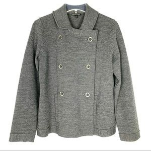 Eileen Fisher gray double breasted jacket, S